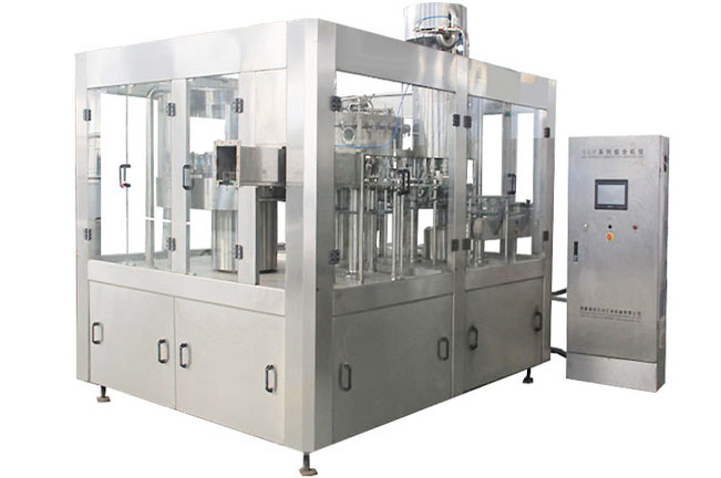 DCGF series carbonated drink rinsing filling capping 3 in 1 mono block