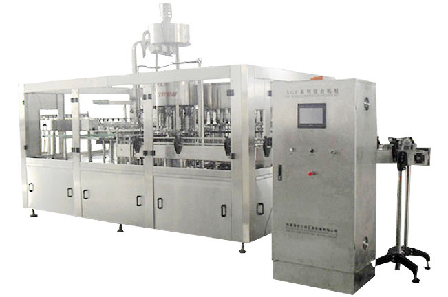 XGF series juice or tea rinsing filling capping 3 in 1 mono block