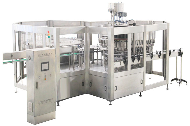 CGF series no carbonated drink rinsing filling capping 3 in 1 mono block